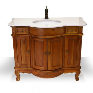 "38"" teak antique vanity"