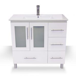 """36"""" modern white vanity"""