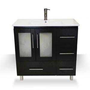 "36"" modern espresso vanity"