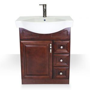 "28"" dark walnut euro vanity"