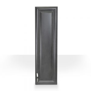 grey raised panel side cabinet