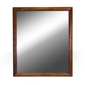 """42""""x36"""" light walnut mirror"""