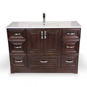 GK067 V7D Dark Walnut Narrow Vanity