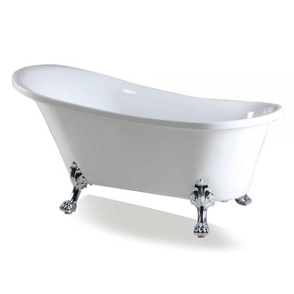 "67"" Freestanding Clawfoot Acrylic Tub"