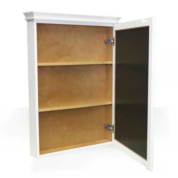 white mirrored medicine cabinet