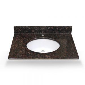 "37"" tan brown granite vanity top"