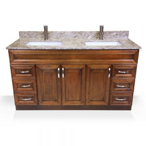 Light Walnut Vanity 60""