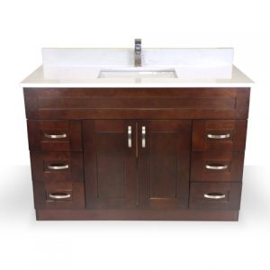 "48"" Dark Walnut Shaker Vanity"