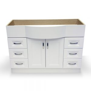 "47"" White Vanity with White Porcelain Top"
