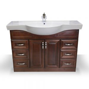 "48"" Dark Walnut Euro Vanity"