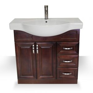 "36"" Dark Walnut Euro Vanity"