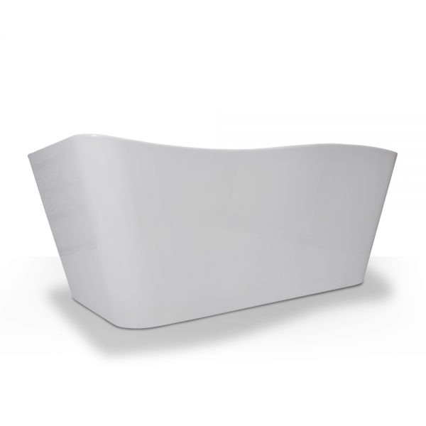 French Curve Rectangle Freestanding Tub