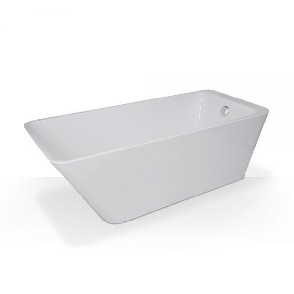 Angled Rectangular Freestanding Tub
