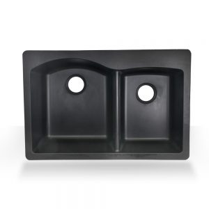 Black Double Granite Top-mount Composite Sink