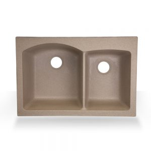 Sandstone Double Granite Top-mount Composite Sink