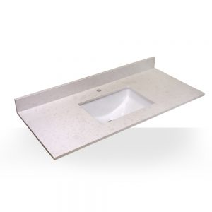 "49"" Oyster White Square Sink With Quartz Counter Top"
