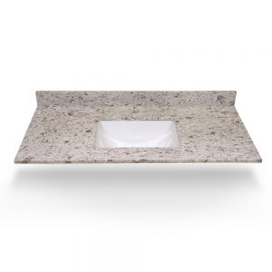 "49"" Arctic White Square Sink With Quartz Counter Top"