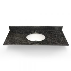"49"" Steel Grey Granite Round Sink With Granite Counter Top"