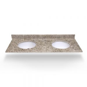 "61"" Medium Ornamental Double Round Sink Granite Counter Top"