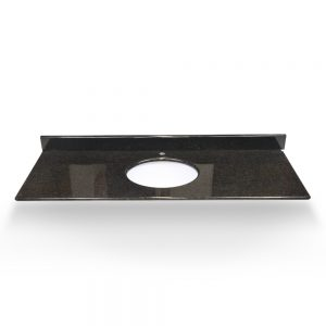 "49"" Black Pearl Round Granite Sink With Granite Counter Top"