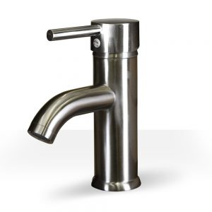Brushed Nickel Round Single Lever Faucet