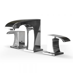 "Chrome Curved 8""cc Faucet"