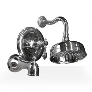 Chrome Derrenge Shower & Tub Set