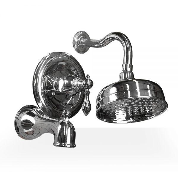 Chrome Derrenge Shower & Tub Set