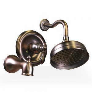 Oil Rubbed Bronze Derrenge Shower & Tub Set