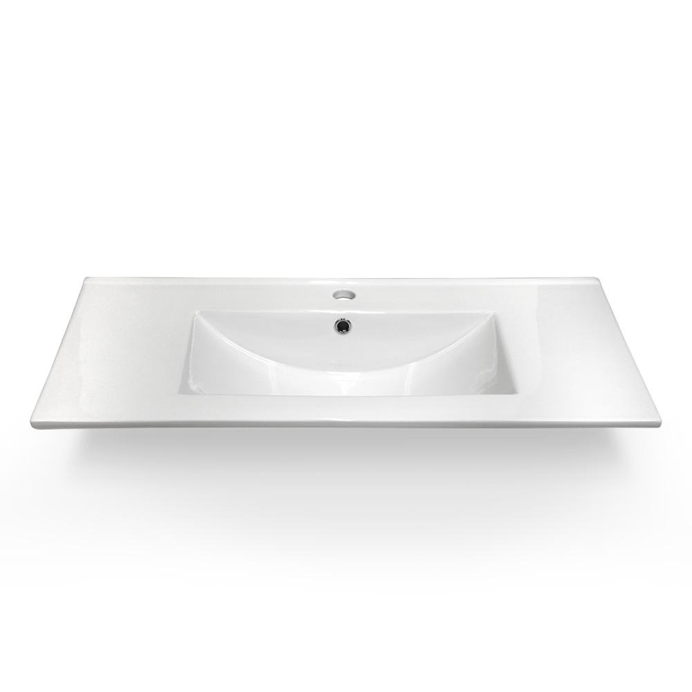 36 X 18 Ceramic One Piece Square Sink Vanity Top Guskitchenandbath Com