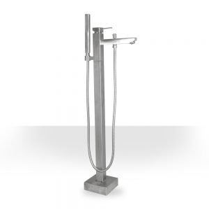 Brushed Nickel Square Freestanding Faucet