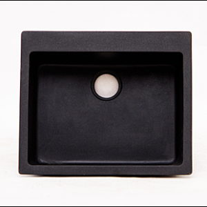 Single Black Top-mount Granite Sink
