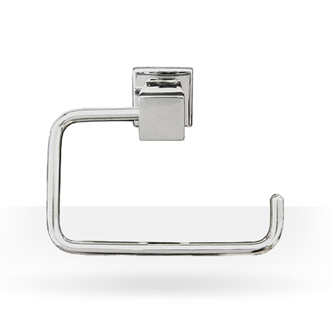 square chrome toilet paper holder
