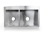 double stainless steel farm sink
