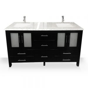 modern espresso double sink vanity