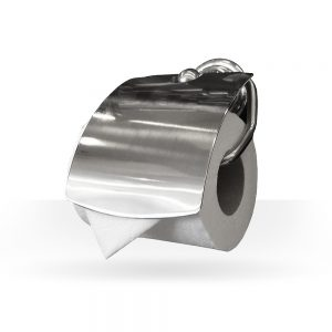 Classic brushed nickel toilet paper holder