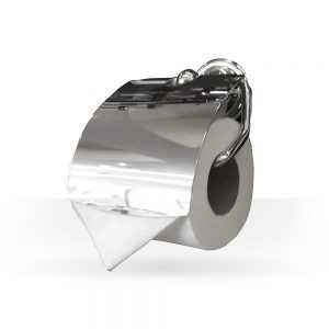 Classic chrome toilet paper holder
