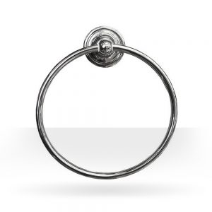 Classic chrome towel ring
