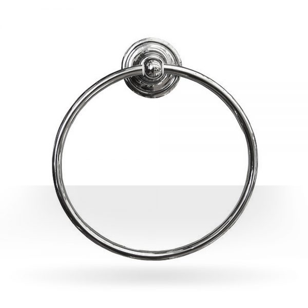 Classic brushed nickel towel ring