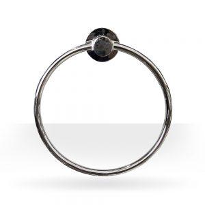 Round chrome towel ring