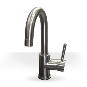 Simple Brushed Nickel Kitchen Faucet