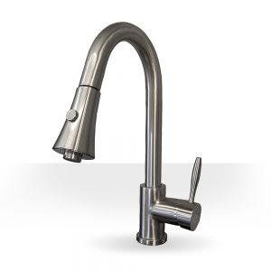 Elegant Brushed Nickel Kitchen Faucet