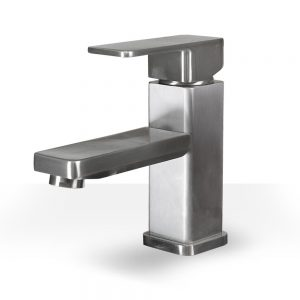 brushed nickel rectangle vanity faucet