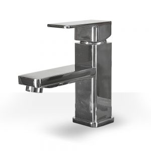 Chrome rectangle vanity faucet
