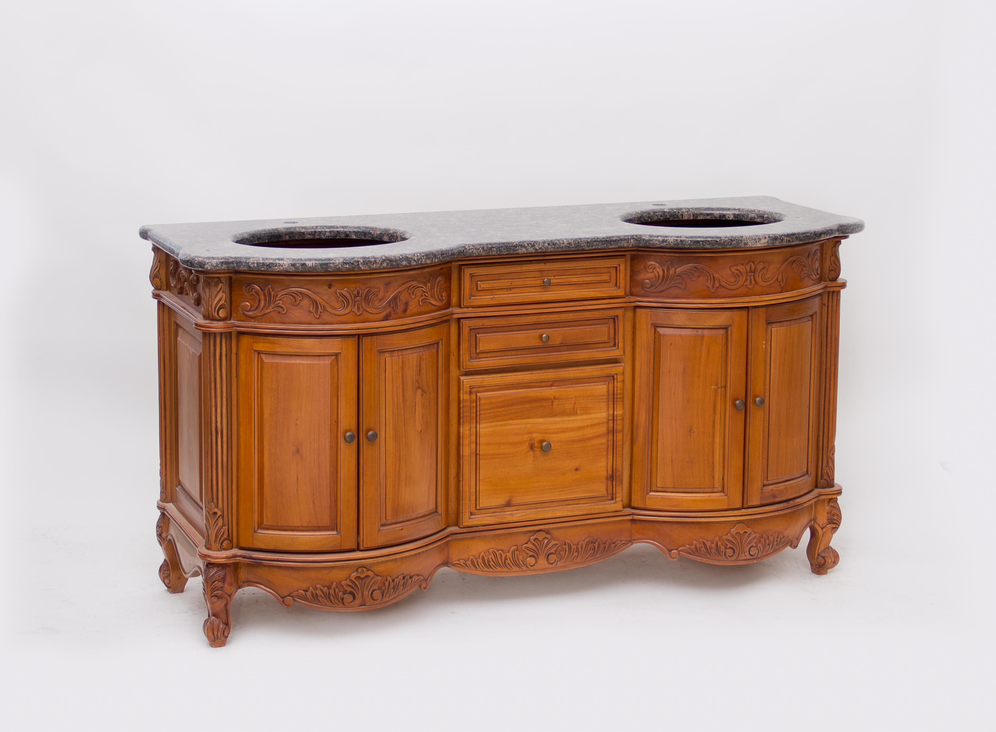 48 Inch Bath Vanity, 64 Teak Antique Vanity Guskitchenandbath Com