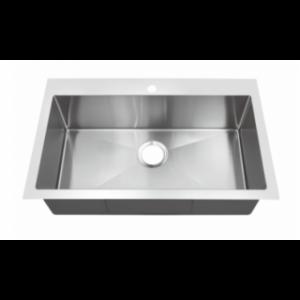 B208 18 Gauge Topmount Single Sink