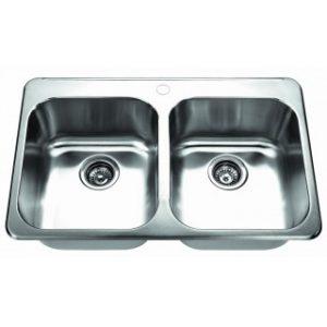 B211 20 Gauge Topmount Stainless Double Sink