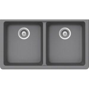 B300 Virtuo Granite Pearl Gray Double Bowl