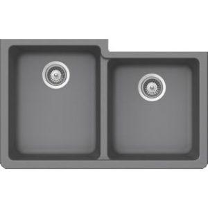 B305 Virtuo Granite Slate Grey Double Bowl