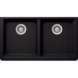 B315 - Pearl Black Low Divide Granite Sink